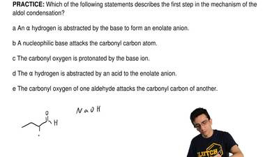 Which of the following statements describes the first step in the mechanism of...