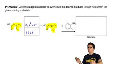 Give the reagents needed to synthesize the desired products in high yields fro...