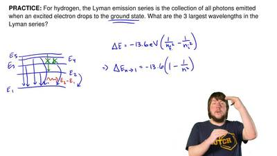 For hydrogen, the Lyman emission series is the collection of all photons emitt...