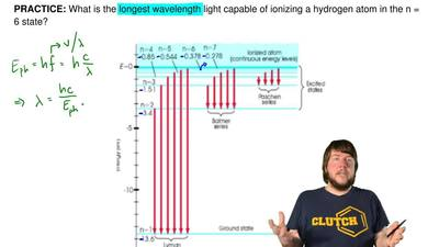 What is the longest wavelength light capable of ionizing a hydrogen atom in th...