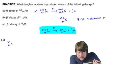 What daughter nucleus is produced in each of the following decays?  (a) αdeca...