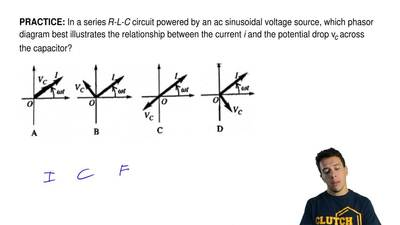 In a series R-L-C circuit powered by an acsinusoidal voltage source, which ph...