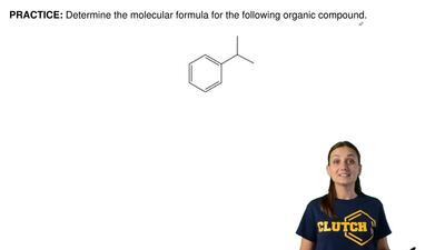 Determine the molecular formula for the following organic compound.  ...
