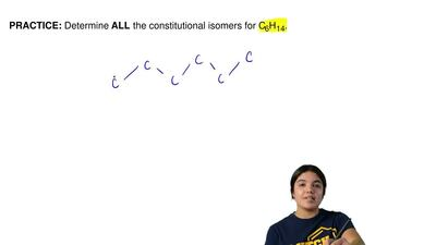 Determine ALLthe constitutional isomers for C6H14. ...