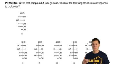 Given that compound A is D-glucose, which of the following structures correspo...
