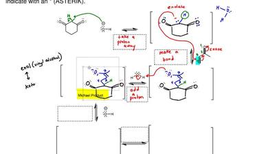 Complete the mechanism for the following Robinson Annulation Reaction. Draw al...