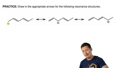 Draw in the appropriate arrows for the following resonance structures. ...