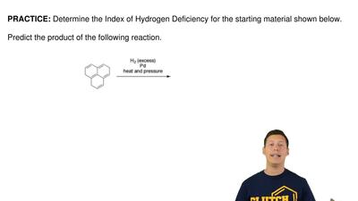 Determine the Index of Hydrogen Deficiency for the starting material shown bel...