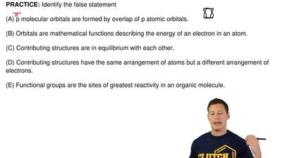 Identify the false statement  (A) p molecular orbitals are formed by overlap o...