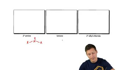 Provide a LINE DRAWING that exemplifies each of the following functional group...