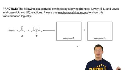 The following is a stepwise synthesis by applying Bronsted-Lowry (B-L) and Lew...