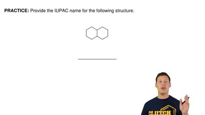 Provide the IUPAC name for the following structure. ...