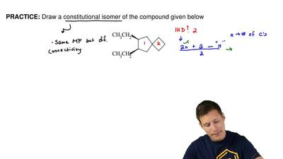 Draw a constitutional isomer of the compound given below ...