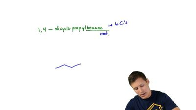 Write a bond-line formula for each of the following compounds: (k) 1,4-Dicyclo...
