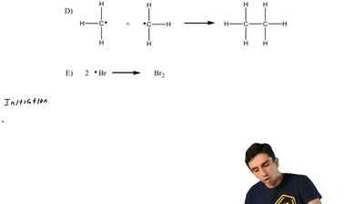 Which of the following is the rate-determining step in the free-radical bromin...