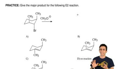 Give the major product for the following E2 reaction. ...