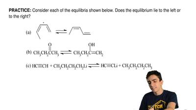 Consider each of the equilibria shown below. Does the equilibrium lie to the l...
