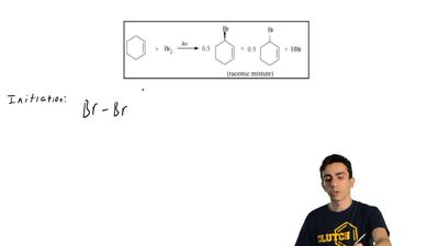 Using arrows to show the flow of electrons, give a stepwise mechanism for the ...