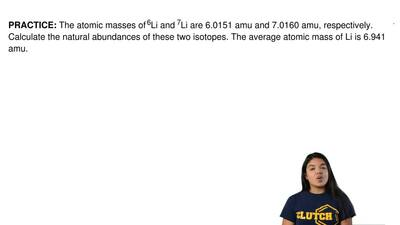 The atomic masses of 6Li and 7Li are 6.0151 amu and 7.0160 amu, respectively. ...