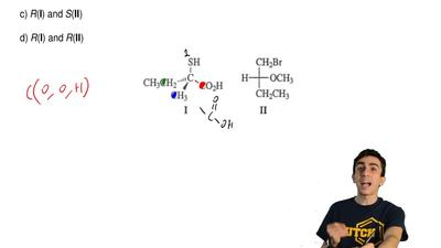 What are the absolute configurations of these two molecules?  a) S(I) and S(II...