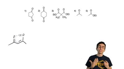 Which of the following carbonyl compounds has the highest equilibrium amount o...