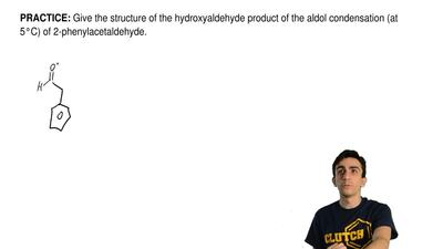Give the structure of the hydroxyaldehyde product of the aldol condensation (a...