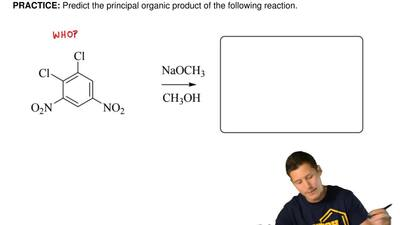 Predict the principal organic productof the following reaction. ...