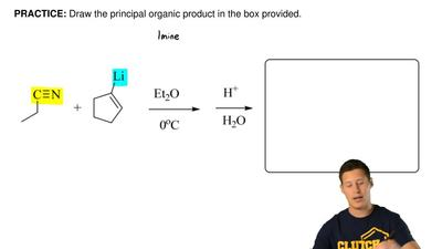 Draw the principal organic product in the box provided.     ...