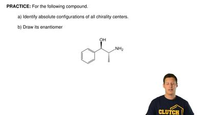 For the following compound.  a) Identify absolute configurations of all chiral...