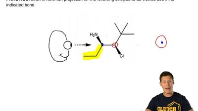 Draw a Newman projection for the following compound as viewed down the indicat...