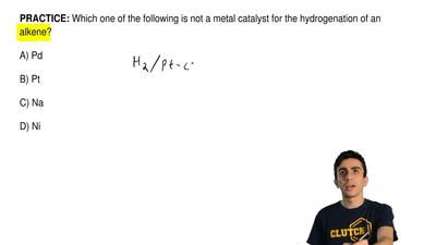 Which one of the following is not a metal catalyst for the hydrogenation of an...