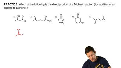 Which of the following is the direct product of a Michael reaction (1,4 additi...