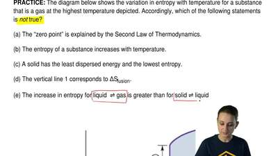 The diagram below shows the variation in entropy with temperature for a substa...