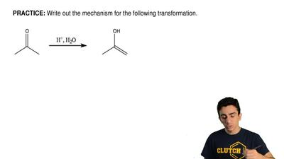 Write out the mechanism for the following transformation. ...