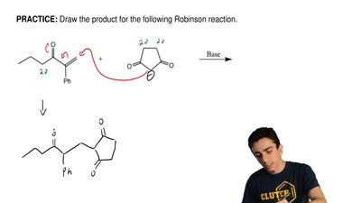 Draw the product for the following Robinson reaction. ...
