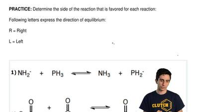 Determine the side of the reaction that is favored for each reaction:  Followi...