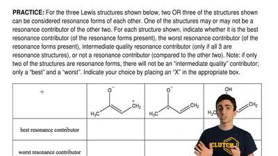 For the three Lewis structures shown below, two OR three of the structures sho...