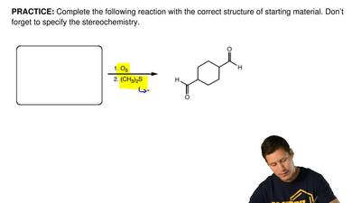 Complete the following reaction with the correct structure of starting materia...