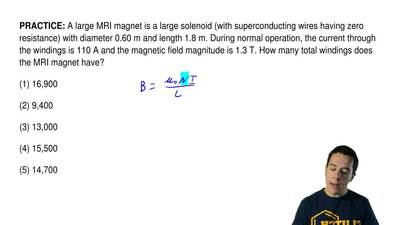 A large MRI magnet is a large solenoid (with superconducting wires having zero...