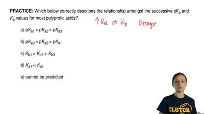 Which below correctly describes the relationship amongst the successive p Ka a...