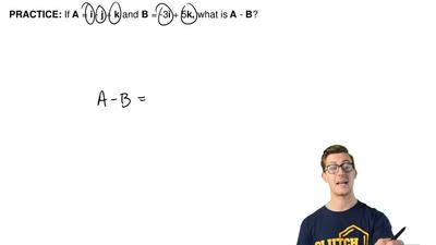 If A = i - j + k and B = -3i + 5k, what is A - B? ...