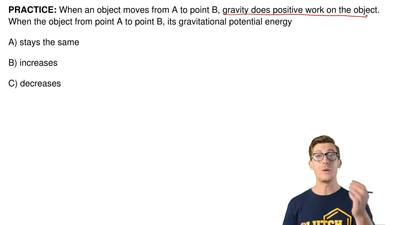 When an object moves from A to point B, gravity does positive work on the obje...