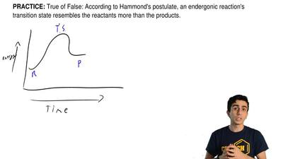 True of False: According to Hammond's postulate, an endergonic reaction's tran...