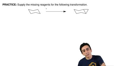 Supply the missing reagents for the following transformation.  ...