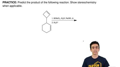 Predict the product of the following reaction. Show stereochemistry when appli...