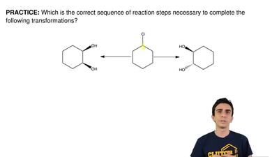 Which is the correct sequence of reaction steps necessary to complete the foll...