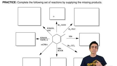 Complete the following set of reactions by supplying the missing products. ...