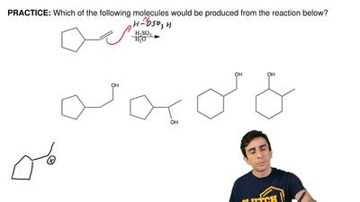 Which of the following molecules would be produced from the reaction below? ...