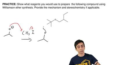 Show what reagents you would use to prepare  the following compound using Will...