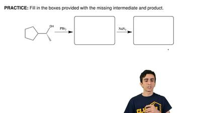 Fill in the boxes provided with the missing intermediate and product.  ...
